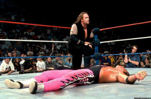 WWF Summerslam 1997 Bret hart vs Undertaker wwf title ...